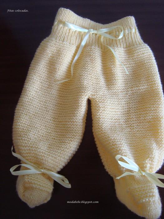 вязание детских ползунков