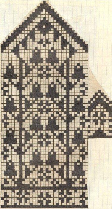 Варежки схемы 22 (376x700, 95Kb)