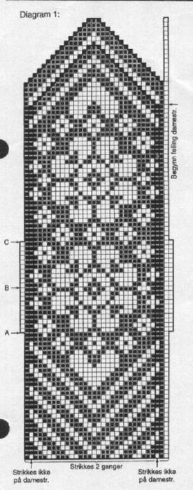 Варежки схемы 31 (276x700, 141Kb)