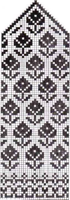 Варежки схемы 36 (245x700, 67Kb)
