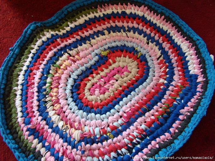 Вязание ковриков из футболок видео