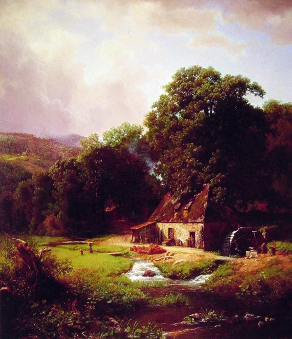 Albert Bierstadt - The Old Mill (601x696, 121Kb)