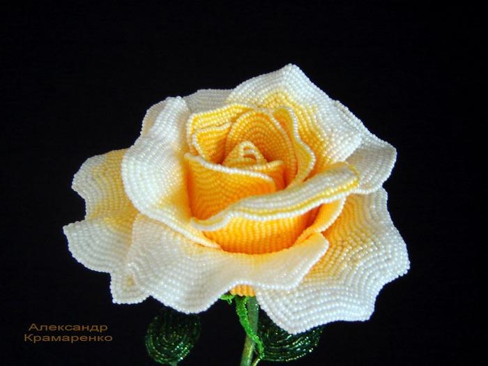Видео HD: Создание розы из бисера.  Урок1: Лепесток.