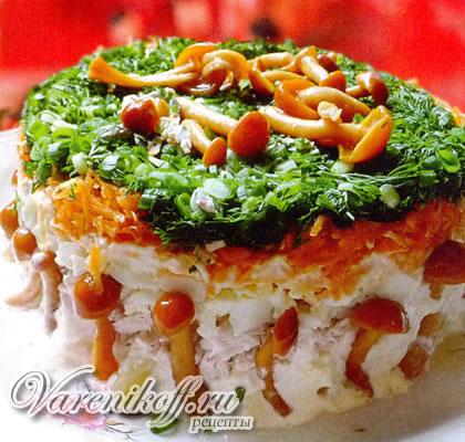 Салат грибное поле рецепт