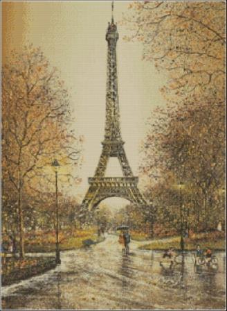 Париж Схемы вышивок крестом Скачать бесплатно.