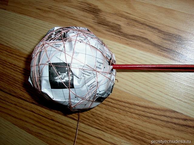 Как сделать самой шар для топиарий
