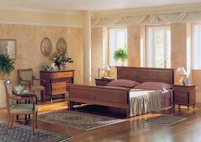 Оформление интерьера спальни в стиле бидермейер.