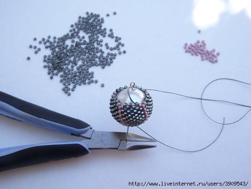 Сделать шарик плетеный бисером