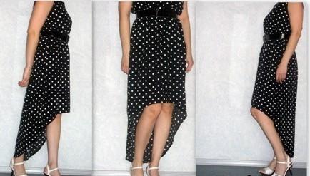 Сшить платье с неровным низом