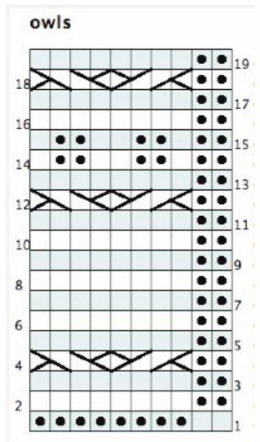 узор сова схема (377x640, 48Kb)