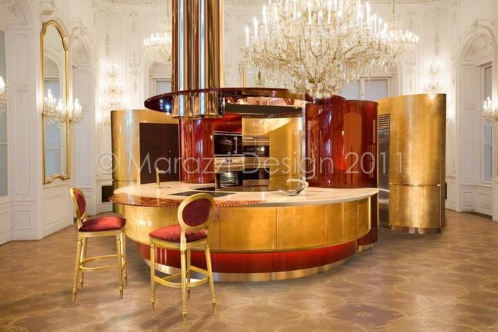 Самая дорогая кухня в мире - Colosseo Oro от студии Marazzi Design 1 (700x466, 91Kb)