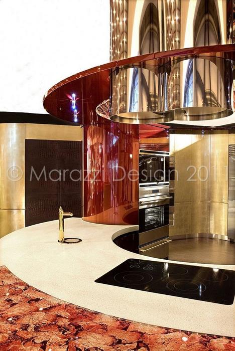 Самая дорогая кухня в мире - Colosseo Oro от студии Marazzi Design 10 (468x700, 398Kb)