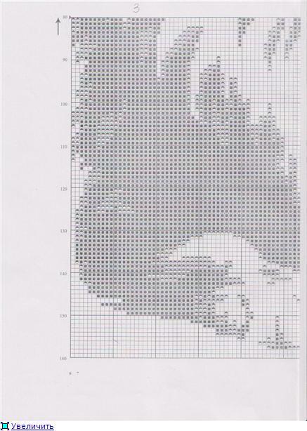 Лев схема вышивки монохром 63
