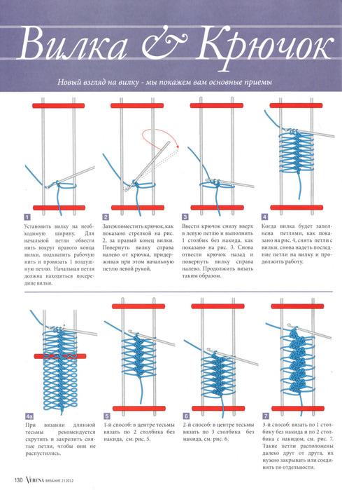 Урок вязания на вилке