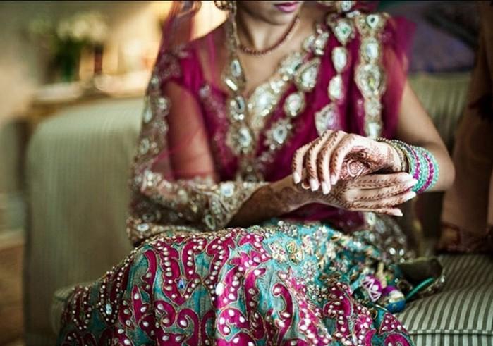 Портретные фото невест из Индии 14 (700x491, 96Kb)