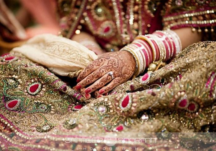Портретные фото невест из Индии 18 (700x491, 118Kb)