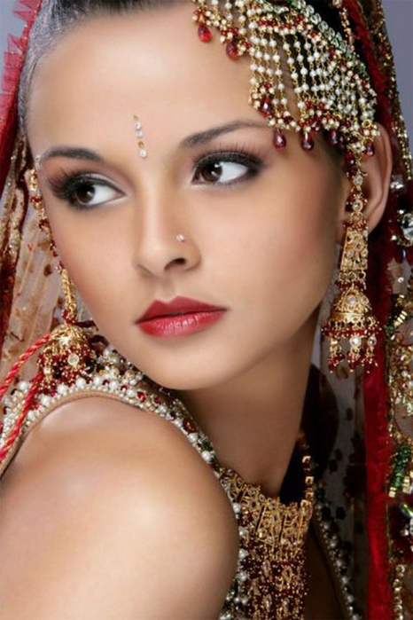 Портретные фото невест из Индии 35 (466x700, 332Kb)