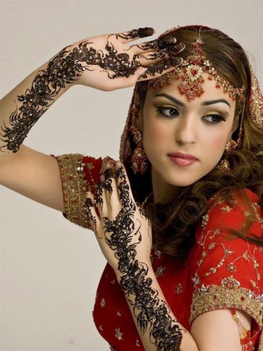 Портретные фото невест из Индии 37 (525x700, 335Kb)