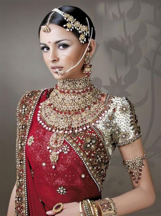 Портретные фото невест из Индии 41 (521x700, 338Kb)