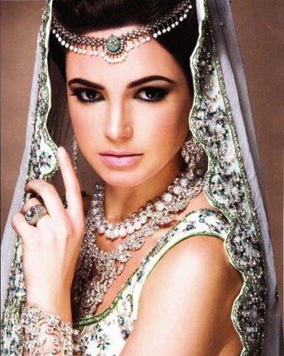 Портретные фото невест из Индии 51 (558x700, 420Kb)