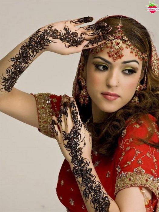 Портретные фото невест из Индии 61 (525x700, 360Kb)