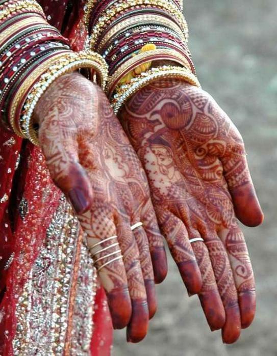 Портретные фото невест из Индии 65 (543x700, 436Kb)