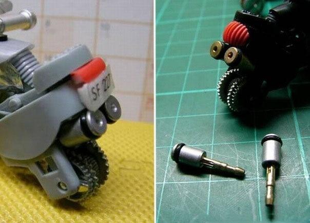 Как из  зажигалки сделать мотоцикл.