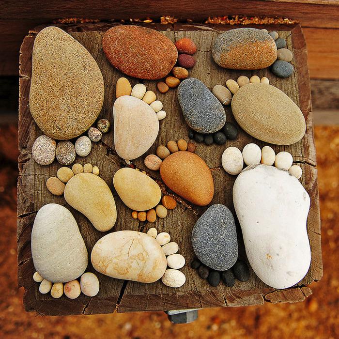 Из морских камней поделки