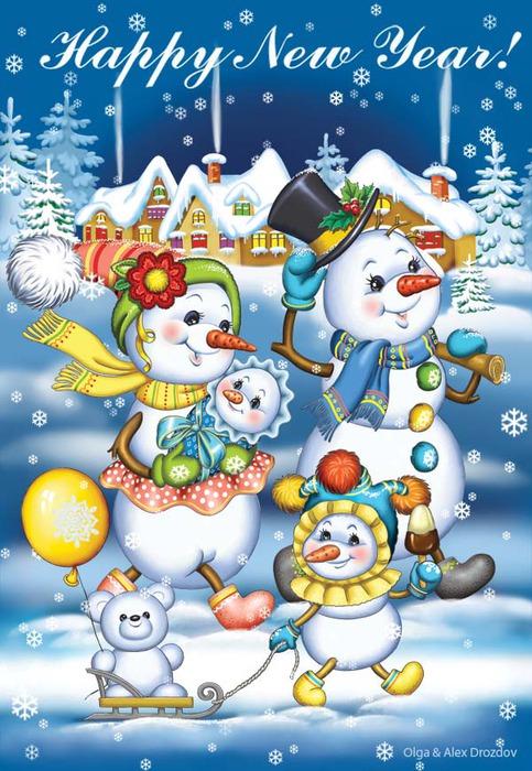 снеговик (483x700, 135Kb)