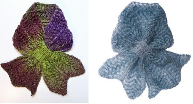 Вязание шарфа спицы оригинальный