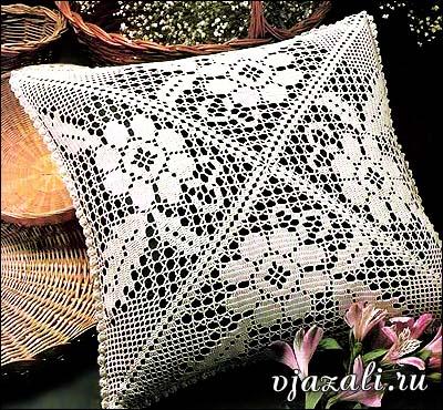 Начать вязание подушки из