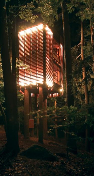 Дом на дереве в лесу неподалеку озера Мускоке 3 (373x700, 339Kb)