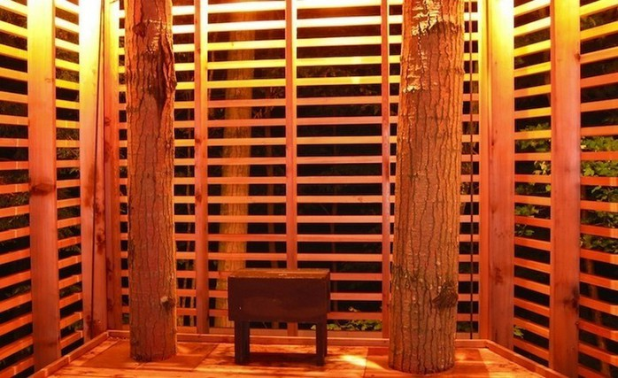 Дом на дереве в лесу неподалеку озера Мускоке 5 (700x427, 101Kb)