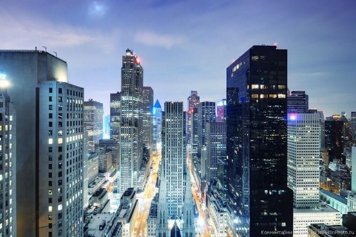 Городские пейзажи Нью-Йорка на фото Эндрю Мейса (Andrew Mace)  14 (700x466, 109Kb)