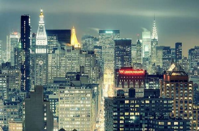 Городские пейзажи Нью-Йорка на фото Эндрю Мейса (Andrew Mace)  16 (700x459, 120Kb)