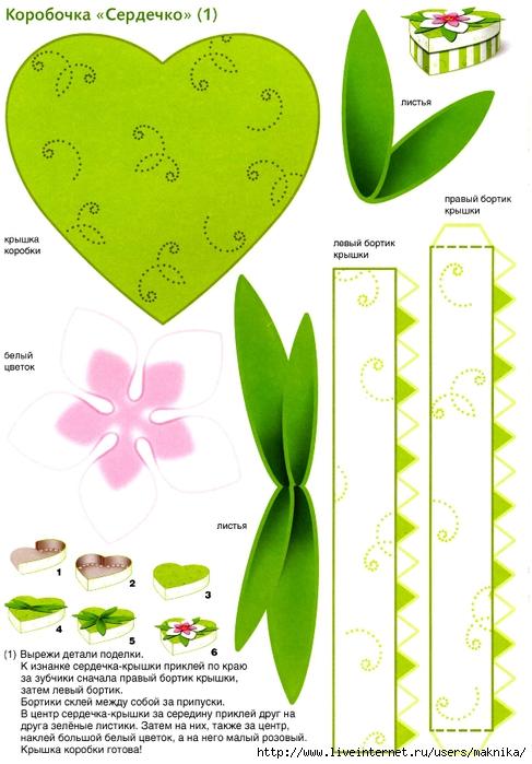 Поделки из картона цветы схемы