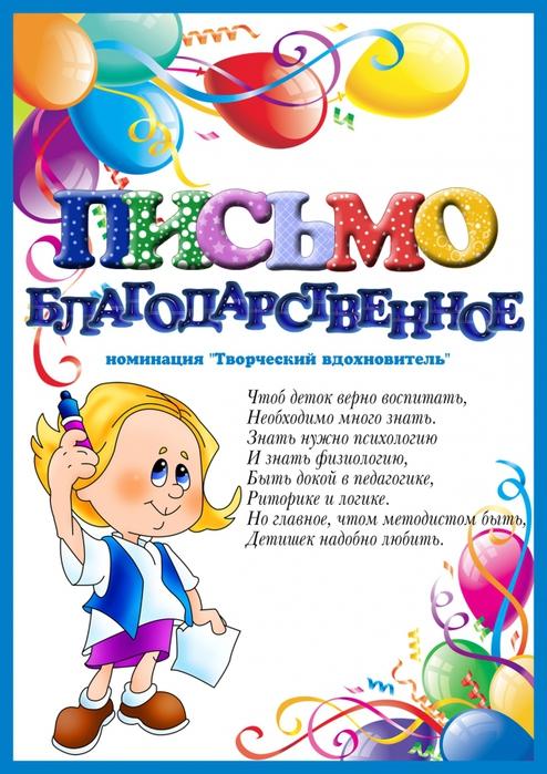 Шуточное поздравление сотрудников детского сада