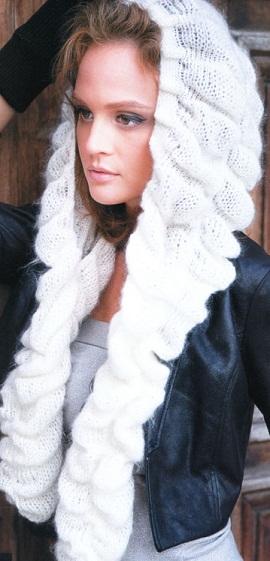 Схема вязания шапки-шарфа