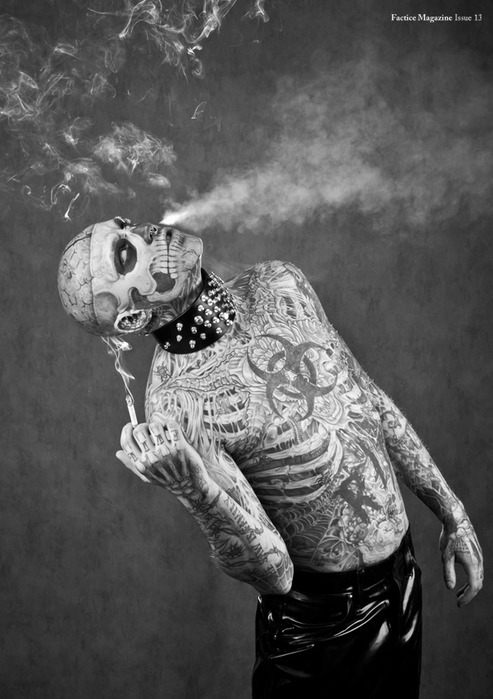 зомби бой Rick Genest фото 2 (493x700, 88Kb)