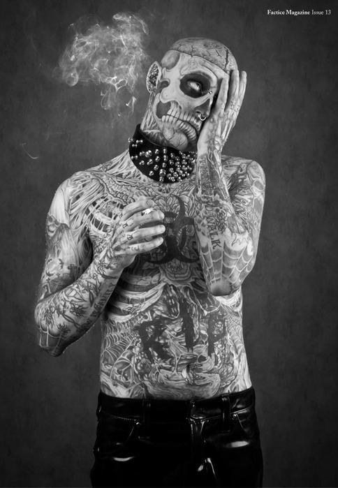 зомби бой Rick Genest фото 3 (484x700, 85Kb)