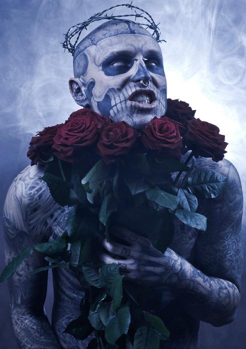 зомби бой Rick Genest фото 8 (492x700, 105Kb)