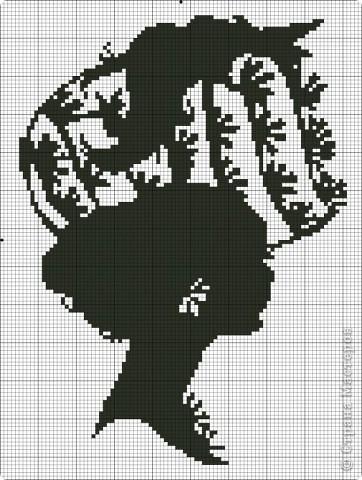 Женские головки (вышивка крестом, схемы).  Размещено с помощью приложения.
