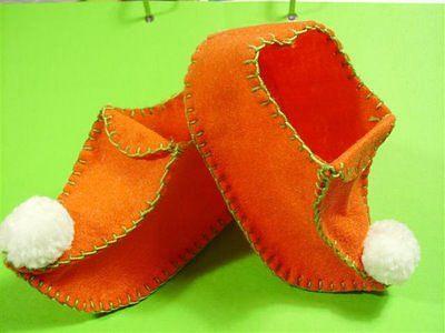 Как сделать туфли для буратино