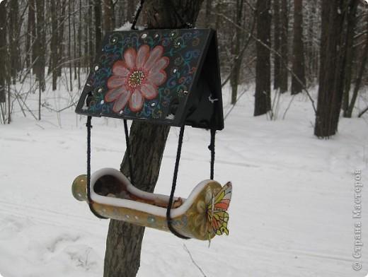 Оригинальные кормушка для птиц своими руками фото