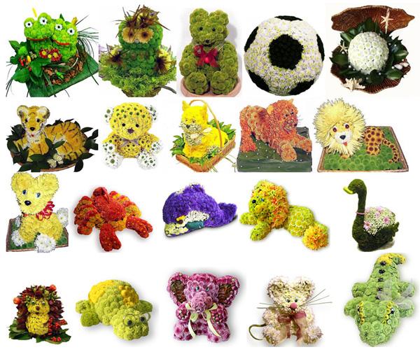 Игрушки из цветов как сделать