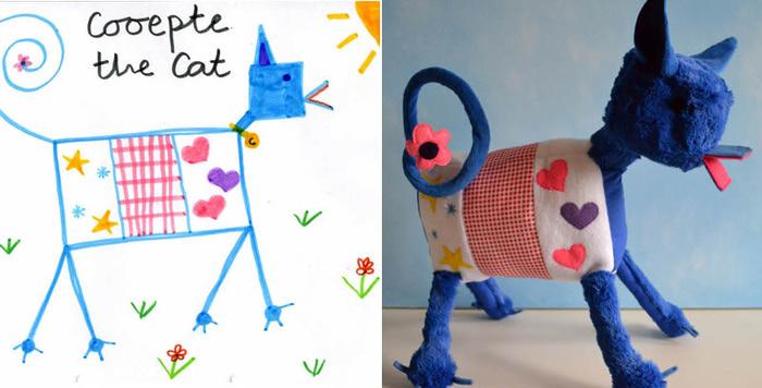 Плюшевые игрушки по детским рисункам. Childs Own Studio