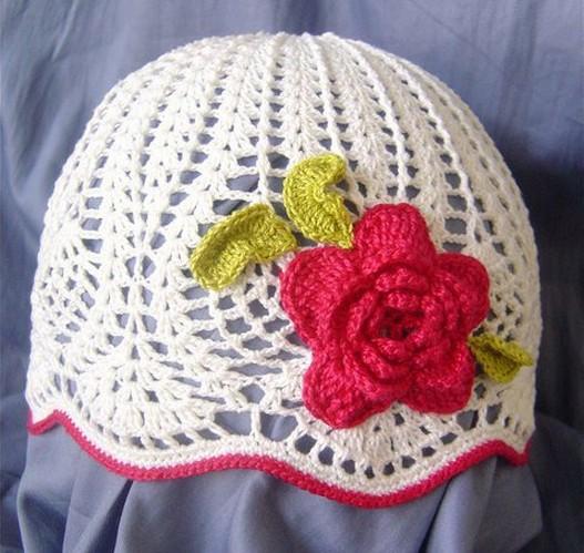 Шапочка летняя ажурная со цветочками вязаными -девочкам/4683827_20120526_102031 (527x499, 82Kb)