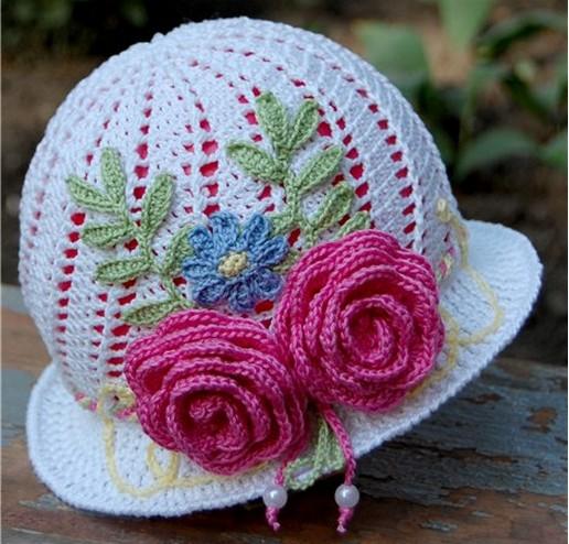 Детская летняя шляпка-панамка