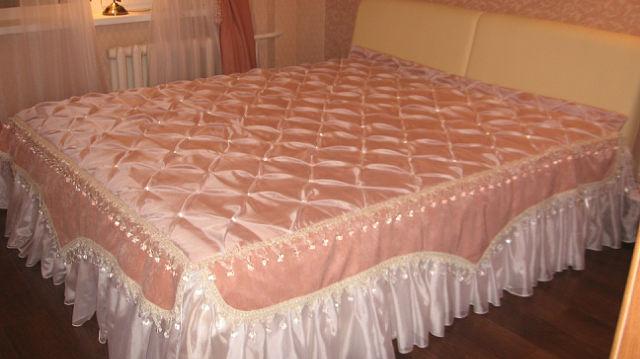 Покрывало буфы на кровать своими руками