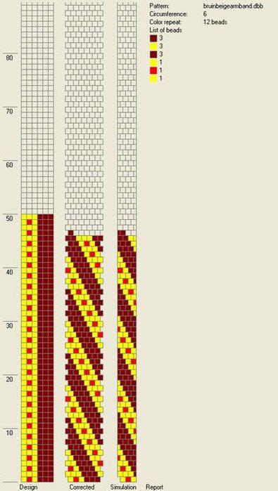 Источник.  Интересные бисерные украшения из жгутов.  Схемы плетения.  Часть 2. Прочитать целикомВ.